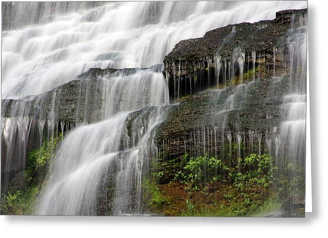 Ithaca Greeting Cards - Ithaca Falls Closeup Greeting Card by Jeff Bord