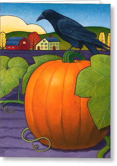 Pumpkin Greeting Cards - Its a Great Pumpkin Greeting Card by Stacey Neumiller