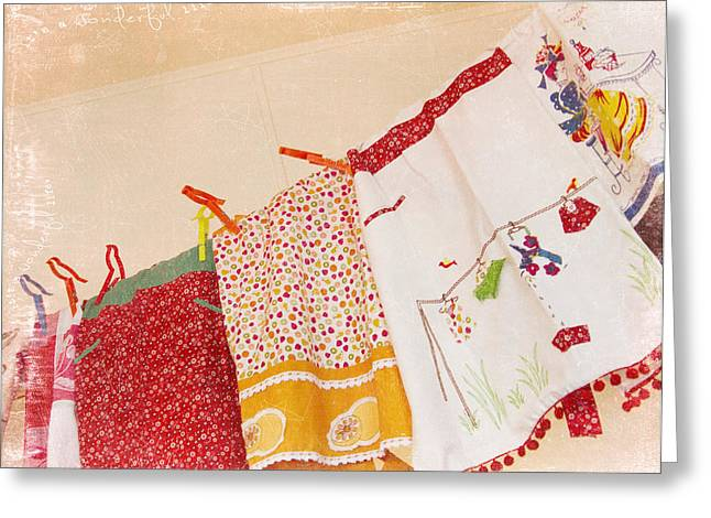 Apron Greeting Cards - Its A Wonderful Life Greeting Card by Rebecca Cozart