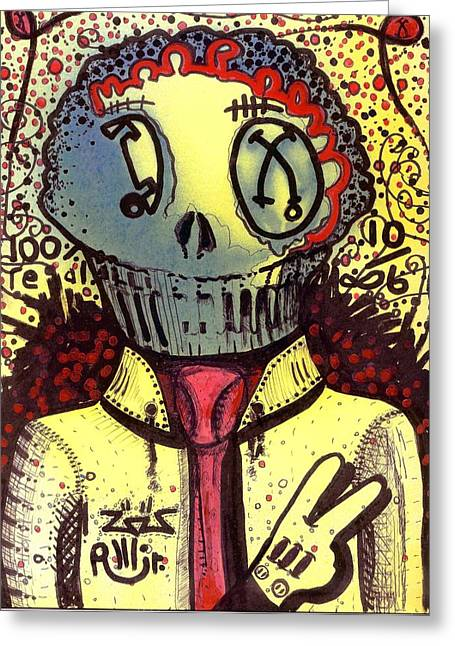 Neo-expressionism Greeting Cards - Its All Good Greeting Card by Robert Wolverton Jr