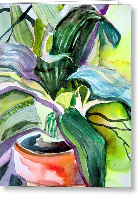 House Plants Greeting Cards - Its just a House Plant Greeting Card by Mindy Newman