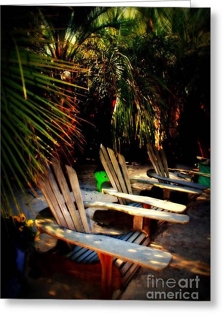 Its Margarita Time In Paradise Greeting Card by Susanne Van Hulst