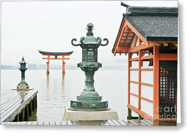 Miyajima Greeting Cards - Itsukushima Shrine Greeting Card by Rob Tilley