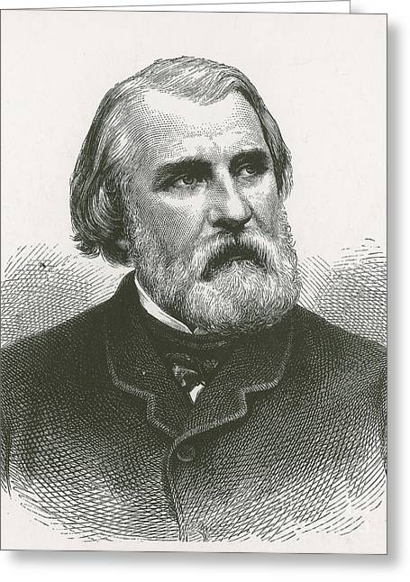 Men; Male; Males; People; Old Greeting Cards - Ivan Turgenev, Russian Author Greeting Card by Photo Researchers