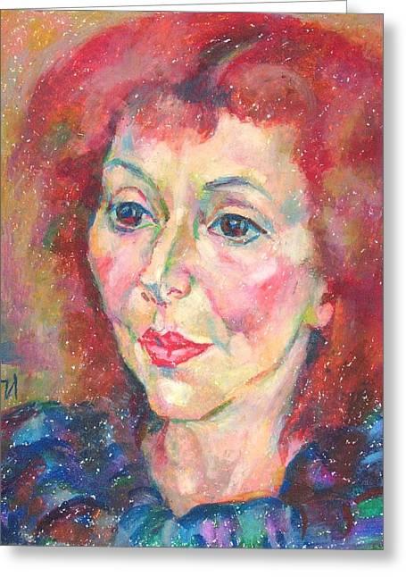 Ivanka Stoyanova Greeting Card by Leonid Petrushin