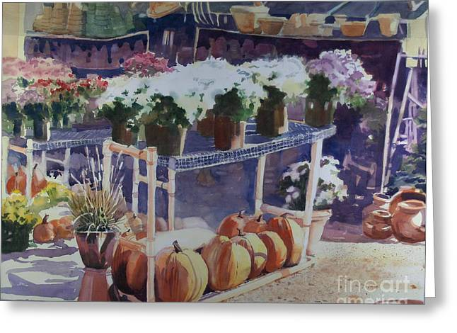 Elizabeth Carr Greeting Cards - Ivy Corners Greeting Card by Elizabeth Carr