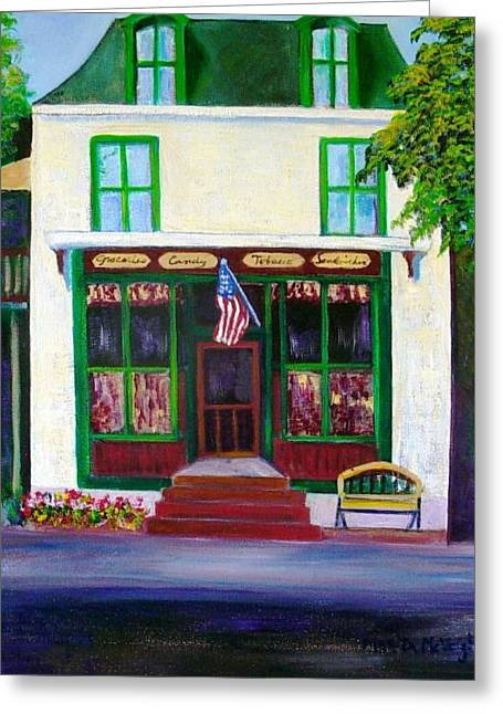 Recently Sold -  - Grocery Store Greeting Cards - Ivyland Country Store Greeting Card by Marita McVeigh