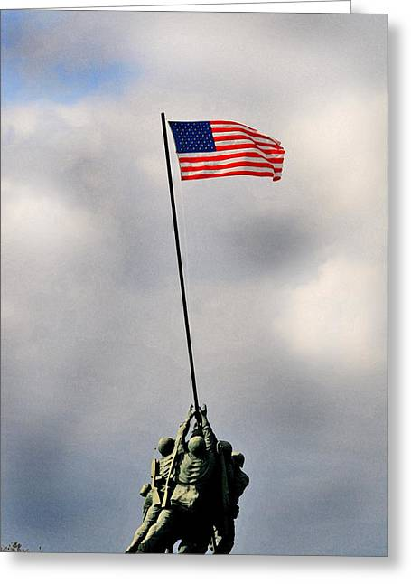 Flag Greeting Cards - Iwo Jima Greeting Card by Lyle  Huisken