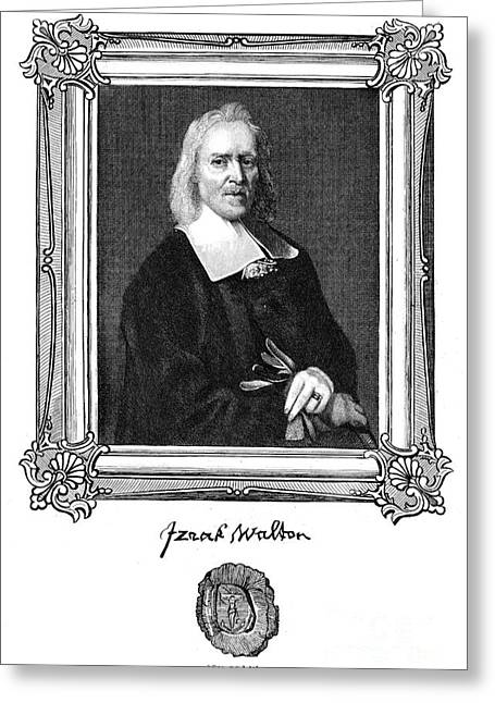 Autographed Greeting Cards - Izaak Walton (1593-1683) Greeting Card by Granger