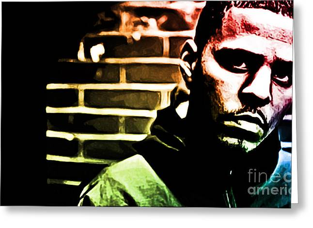 Rhythm And Blues Mixed Media Greeting Cards - J Cole Greeting Card by The DigArtisT