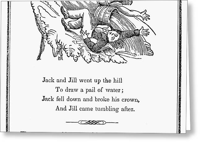 JACK AND JILL, 1833 Greeting Card by Granger