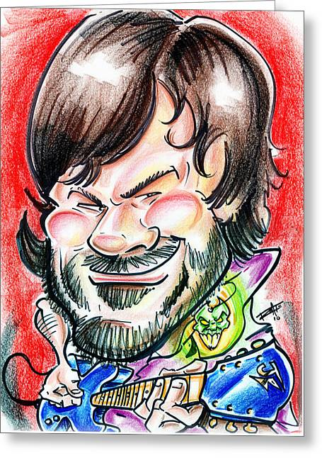 Destiny Drawings Greeting Cards - Jack Black and the Pic  Greeting Card by Big Mike Roate
