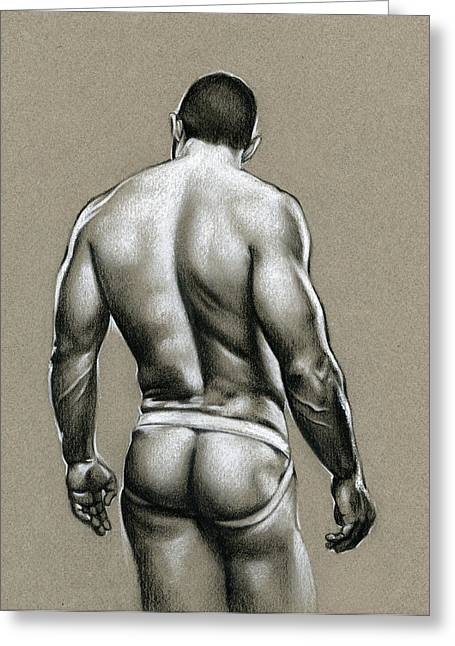 Male Drawings Greeting Cards - Jack Greeting Card by Chris  Lopez