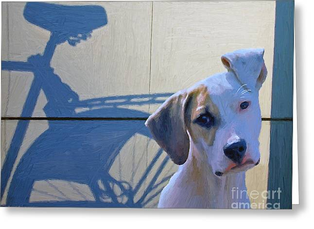 White Terrier Mixed Media Greeting Cards - Jack Greeting Card by Jerry L Barrett