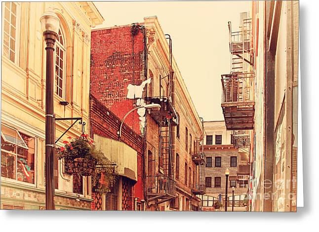 Jack Kerouac Street San Francisco . 7D7437 Greeting Card by Wingsdomain Art and Photography
