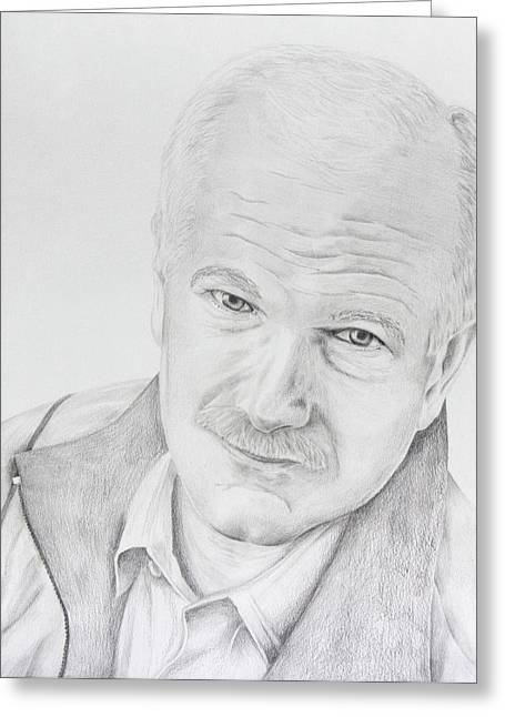 Opposition Drawings Greeting Cards - Jack Layton Greeting Card by Daniel Young
