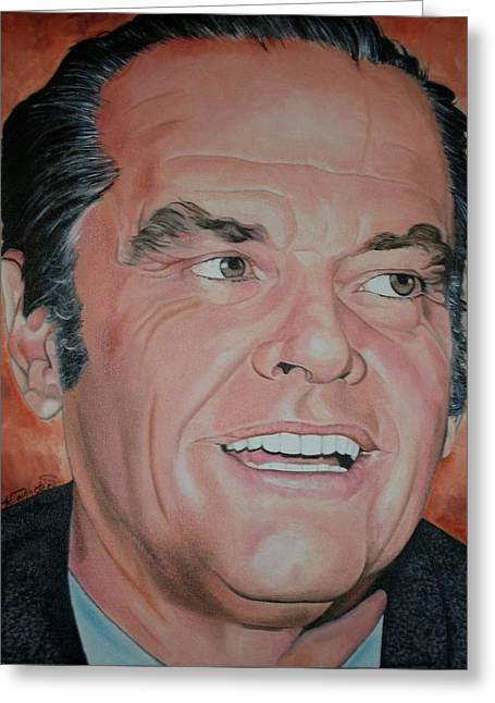 Portraits By Timothe Greeting Cards - Jack Nicholson Greeting Card by Timothe Winstead