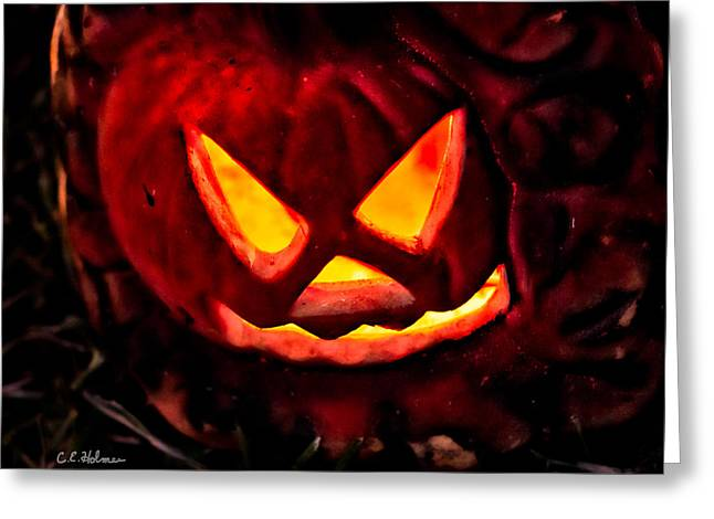 Jack-o-lantern Greeting Card by Christopher Holmes