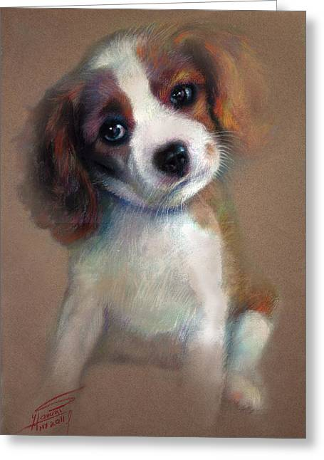 Terrier Pastels Greeting Cards - Jack Russell Terrier Dog Greeting Card by Ylli Haruni