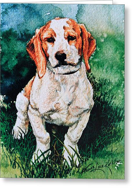 Action Portrait From Photo Greeting Cards - Jack Russell Woogle Greeting Card by Hanne Lore Koehler