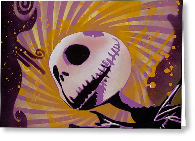 Jack Skellington Greeting Card by Iosua Tai Taeoalii