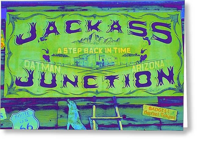 Old Signage Greeting Cards - Jackass Junction Greeting Card by Randall Weidner
