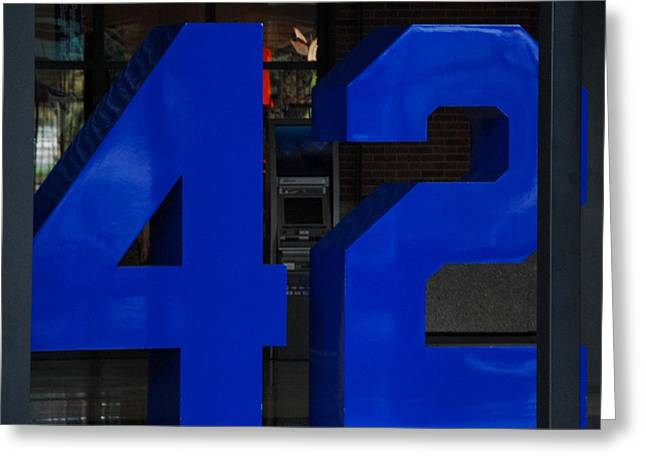 Jackie Robinson 42 Greeting Card by Rob Hans