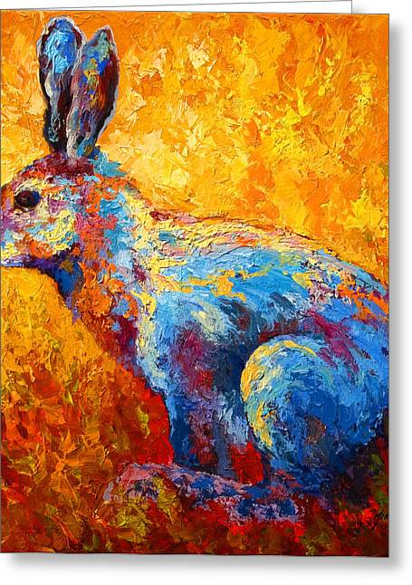 Hare Greeting Cards - Jackrabbit Greeting Card by Marion Rose