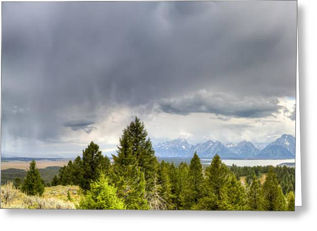 Raining Greeting Cards - Jackson Hole Thunderstorms Greeting Card by Dustin K Ryan