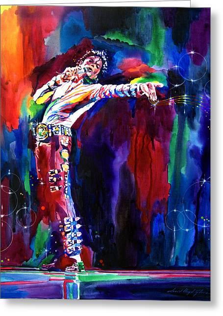 Michael Jackson Greeting Cards - Jackson Magic Greeting Card by David Lloyd Glover