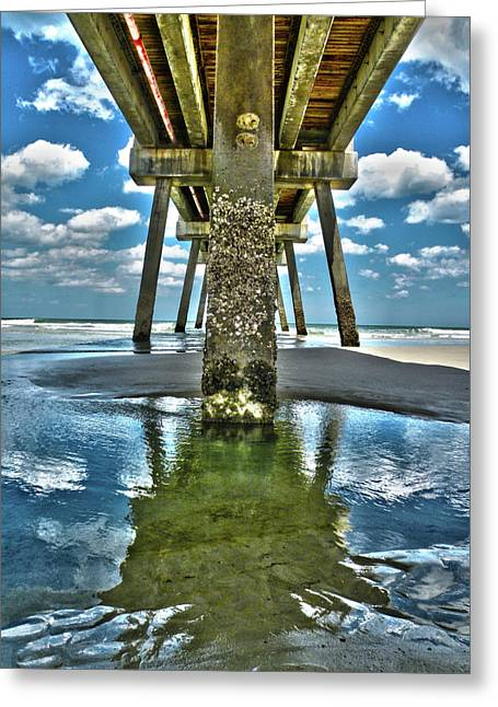 Jacksonville Greeting Cards - Jacksonville Beach Pier Greeting Card by Joe Hickson