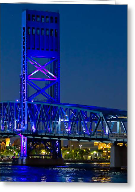 Main Street Greeting Cards - Jacksonville Skyline Greeting Card by Debra and Dave Vanderlaan