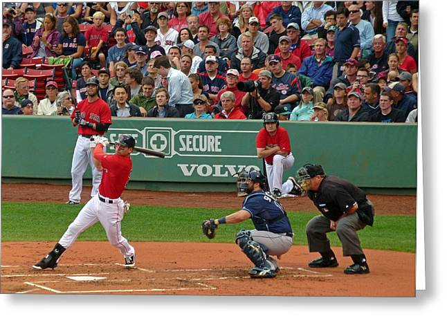 Mlb Art Greeting Cards - Jacoby Ellsbury Greeting Card by Juergen Roth