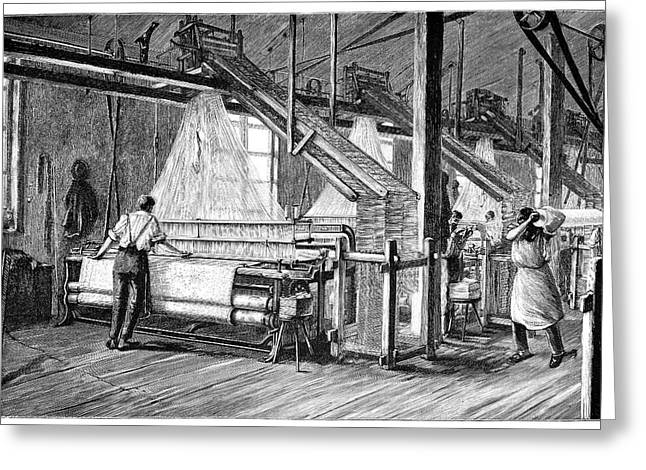 Automated Greeting Cards - Jacquard Loom, 19th Century Greeting Card by