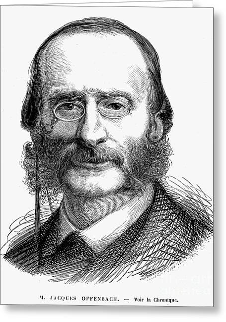 Sideburns Greeting Cards - Jacques Offenbach Greeting Card by Granger