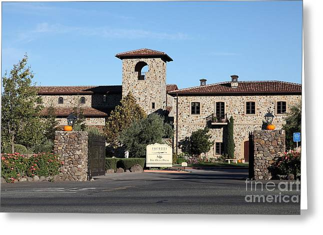 Winery Signs Greeting Cards - Jacuzzi Family Vineyards - Sonoma California - 5D19322 Greeting Card by Wingsdomain Art and Photography