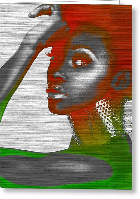 Makeup Greeting Cards - Jada Greeting Card by Naxart Studio