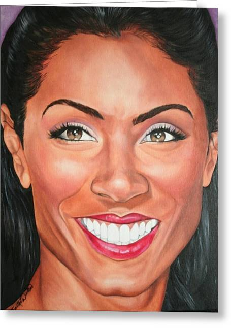 Portraits By Timothe Greeting Cards - Jada Pinkett Smith Greeting Card by Timothe Winstead
