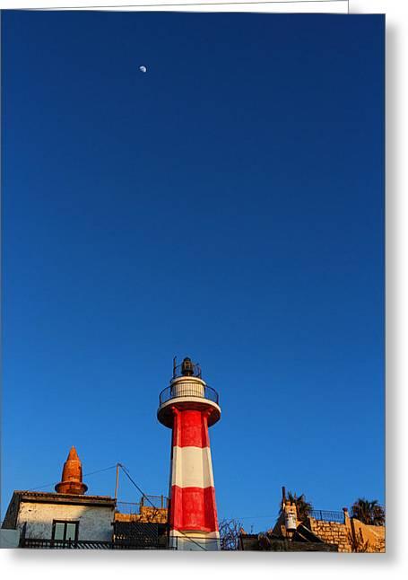 Yafo Greeting Cards - Jaffa Lighthouse Greeting Card by David Gleeson