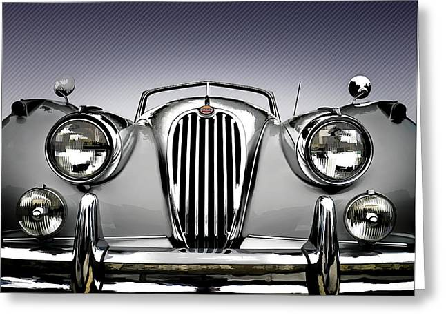 Vintage Greeting Cards - Jag Convertible Greeting Card by Douglas Pittman