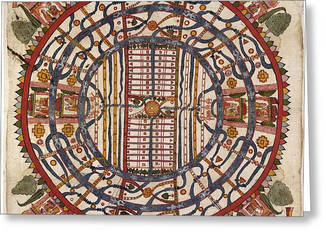 Jain Cosmological Map, 19th Century Greeting Card by Library Of Congress, Geography And Map Division
