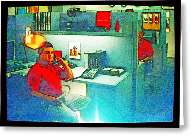 Jake from State Farm Greeting Card by Lenore Senior