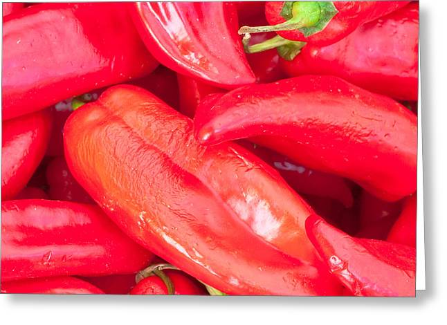 Paprika Greeting Cards - Jalapenos Greeting Card by Tom Gowanlock