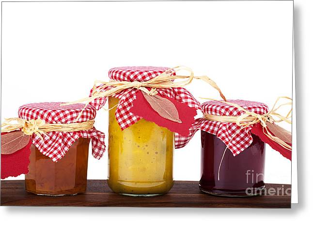 Lids Greeting Cards - Jam jelly and pickle Greeting Card by Jane Rix