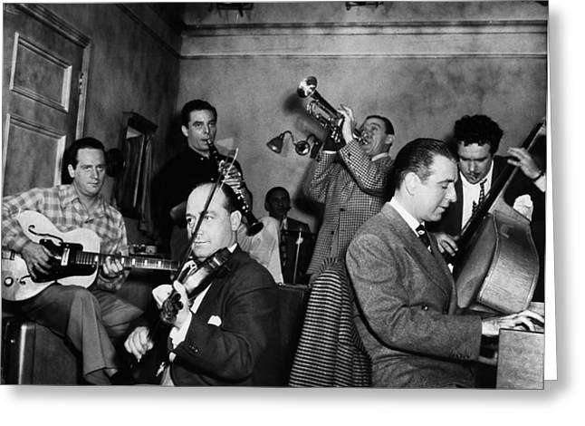 Trumpets Greeting Cards - Jam Session, 1947 Greeting Card by Granger