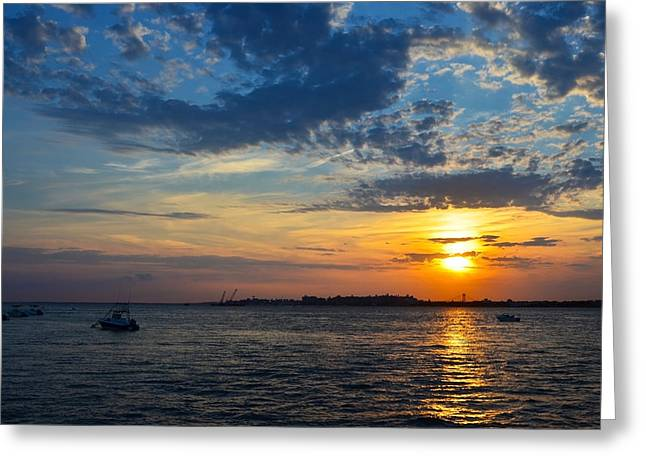 Breezy Greeting Cards - Jamaica Bay Sunset 09 Greeting Card by Maureen E Ritter