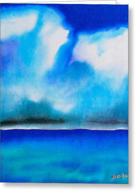 Clouds Tapestries - Textiles Greeting Cards - Jamaica Greeting Card by Daniel Jean-Baptiste