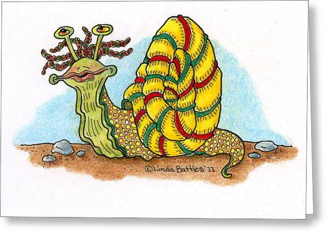 Jamaican Snail Greeting Card by Linda Battles
