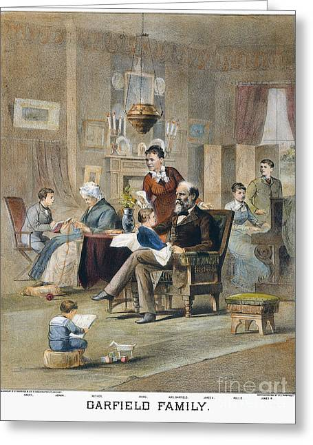 First-lady Greeting Cards - James A. Garfield: Family Greeting Card by Granger