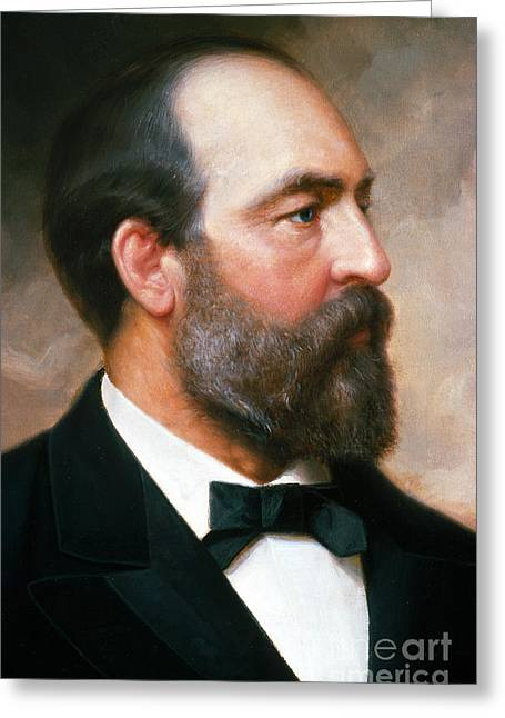 20th President Greeting Cards - James A. Garfield Greeting Card by Photo Researchers